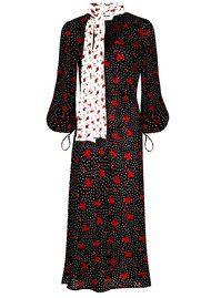 RIXO London Simona Dress - Red & Black