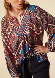 Twist and Tango Callie Blouse - Blue Graphic