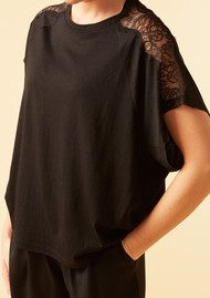 Twist and Tango Silla Lace Top - Black