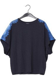 Twist and Tango Silla Lace Top - Navy