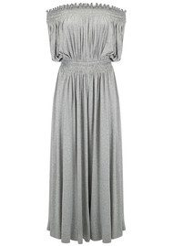 NORMA KAMALI Peasant Jumpsuit - Light Grey