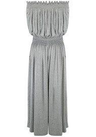 KAMALI KULTURE Peasant Jumpsuit - Light Grey