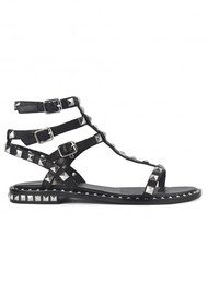 Ash Poison Studded Sandals - Black