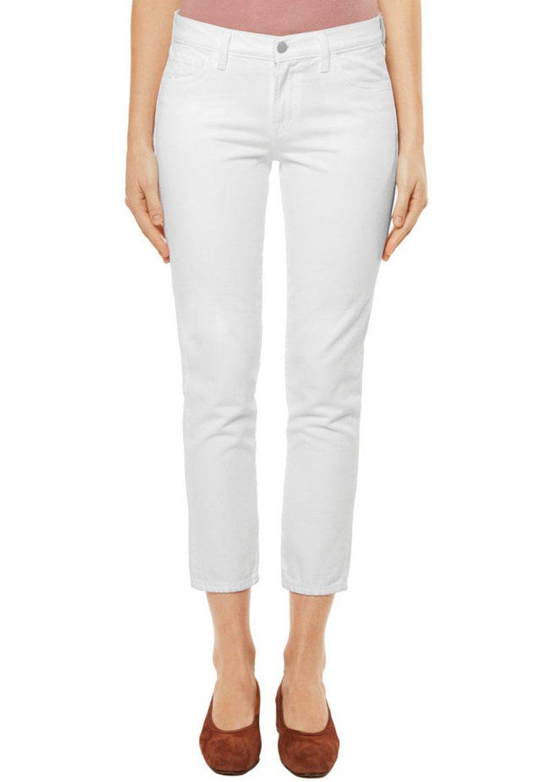 J Brand Sadey Slim Straight Jeans - White main image