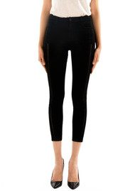 J Brand Alana High Rise Cropped Skinny Jeans - Black Ladder Lace