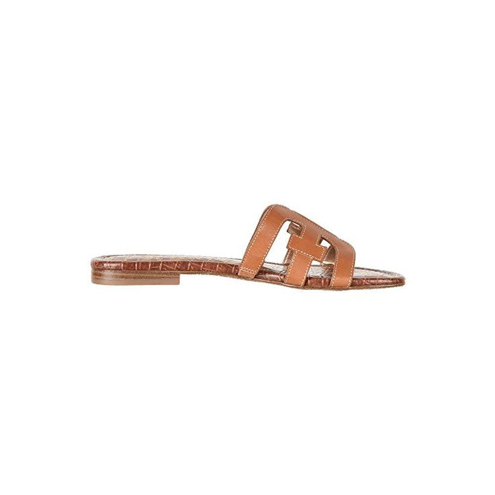 Bay Leather Sandals - Saddle