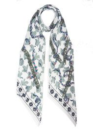 ROCKINS Classic Skinny Scarf - Snakes & Ladders Ivory