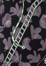 ROCKINS Classic Skinny Scarf - Snakes & Ladders Black