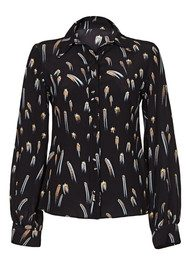 ROCKINS Shooting Star Bell Sleeve Shirt - Gold