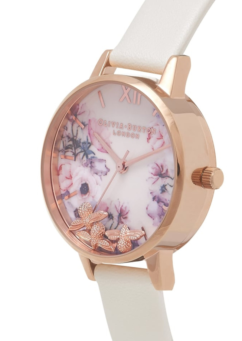Olivia Burton Busy Bee's Midi Watch - Nude & Rose Gold main image