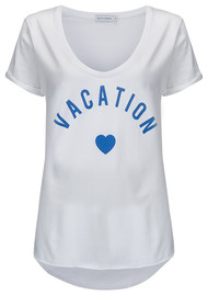SOUTH PARADE Valerie Vacation Tee - White