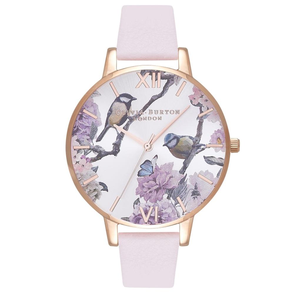 Pretty Blossom Big Dial Bird Watch - Blossom & Rose Gold