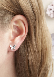 Olivia Burton Social Butterfly Stud Earrings - Silver