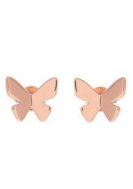 Olivia Burton Social Butterfly Stud Earrings - Rose Gold