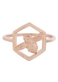 Olivia Burton Honeycomb Bee Ring - Rose Gold