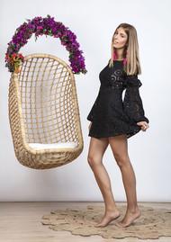 SUNDRESS Margherita Dress - Black & Pink