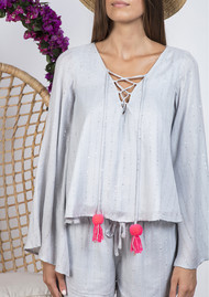 SUNDRESS Anais Sequin Top - Precieuse Grey