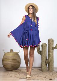 SUNDRESS Olga Dress Cover Up - Royal Blue