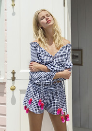 SUNDRESS Iza top - Gingham Black