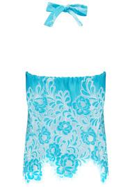 VALERIE KHALFON Tooker Top - White & Turquoise