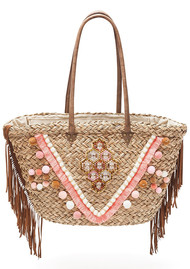 HIPANEMA Porto Vecchio Straw Bag - Nude
