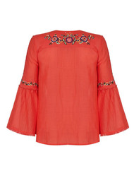 PK BERRY Coco Blouse - Coral