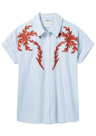 Maison Scotch Short Sleeve Boxy Embroidered Shirt - Combo A