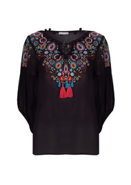 PK BERRY Genevieve Blouse - Black