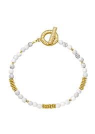 ANNA BECK Divided Beaded Bracelet - Gold & White Howlite