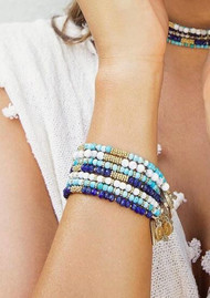 ANNA BECK Beaded Bracelet - Gold & Turquoise