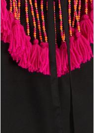 SUNDRESS Indiana Basic Short Dress Cover Up - Black & Pink