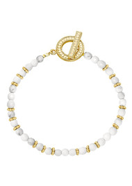 ANNA BECK Beaded Bracelet - Gold & White Howlite