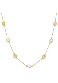 ANNA BECK White Agate Station Necklace - Gold