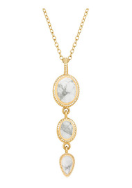 ANNA BECK Howlite Multi Stone Pendant Necklace - Gold