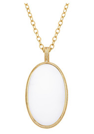 ANNA BECK Howlite & White Agate Pendant Necklace - Gold