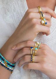 ANNA BECK Abundance Turquoise Multi Stone Ring - Gold