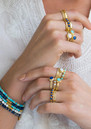 ANNA BECK Clarity White Agate Multi Stone Ring - Gold