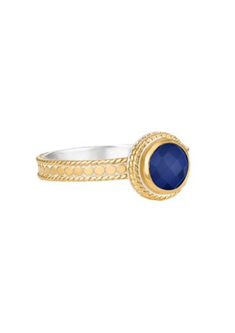 ANNA BECK Wisdom Blue Lapis Single Stone Ring - Gold main image
