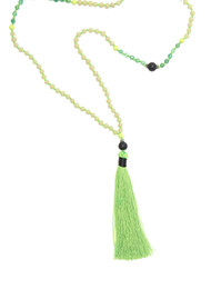 TRIBE + FABLE Single Tassel Necklace - Vivid Lime