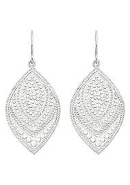 ANNA BECK Marquise Drop Earrings - Silver