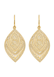 ANNA BECK Marquise Drop Earrings - Gold