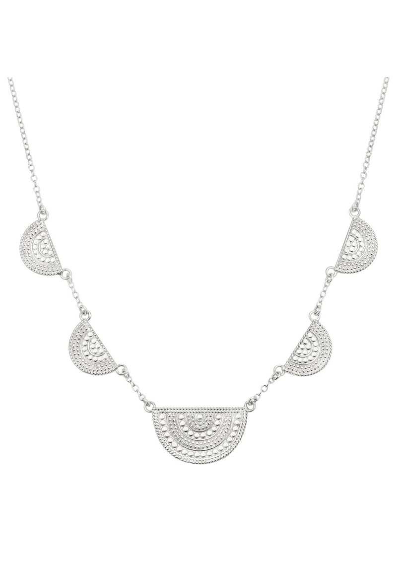 ANNA BECK Half Moon Divided Station Necklace - Silver main image