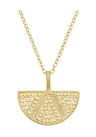 ANNA BECK Half Moon Divided Necklace - Gold