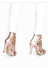 Shades Leather Heels - Rose Gold