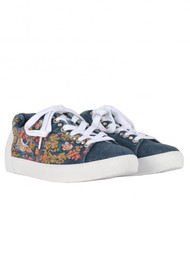Ash Nippon Embroidered Denim Trainers - Blue