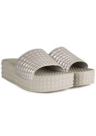 Ash Scream Sudded Chunky Sandals - Silver
