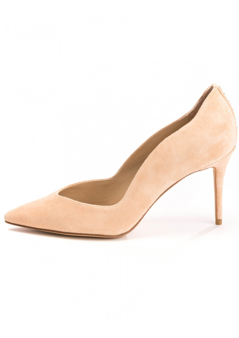 KENDALL & KYLIE Brianna Suede Heels - Apricot Peach main image