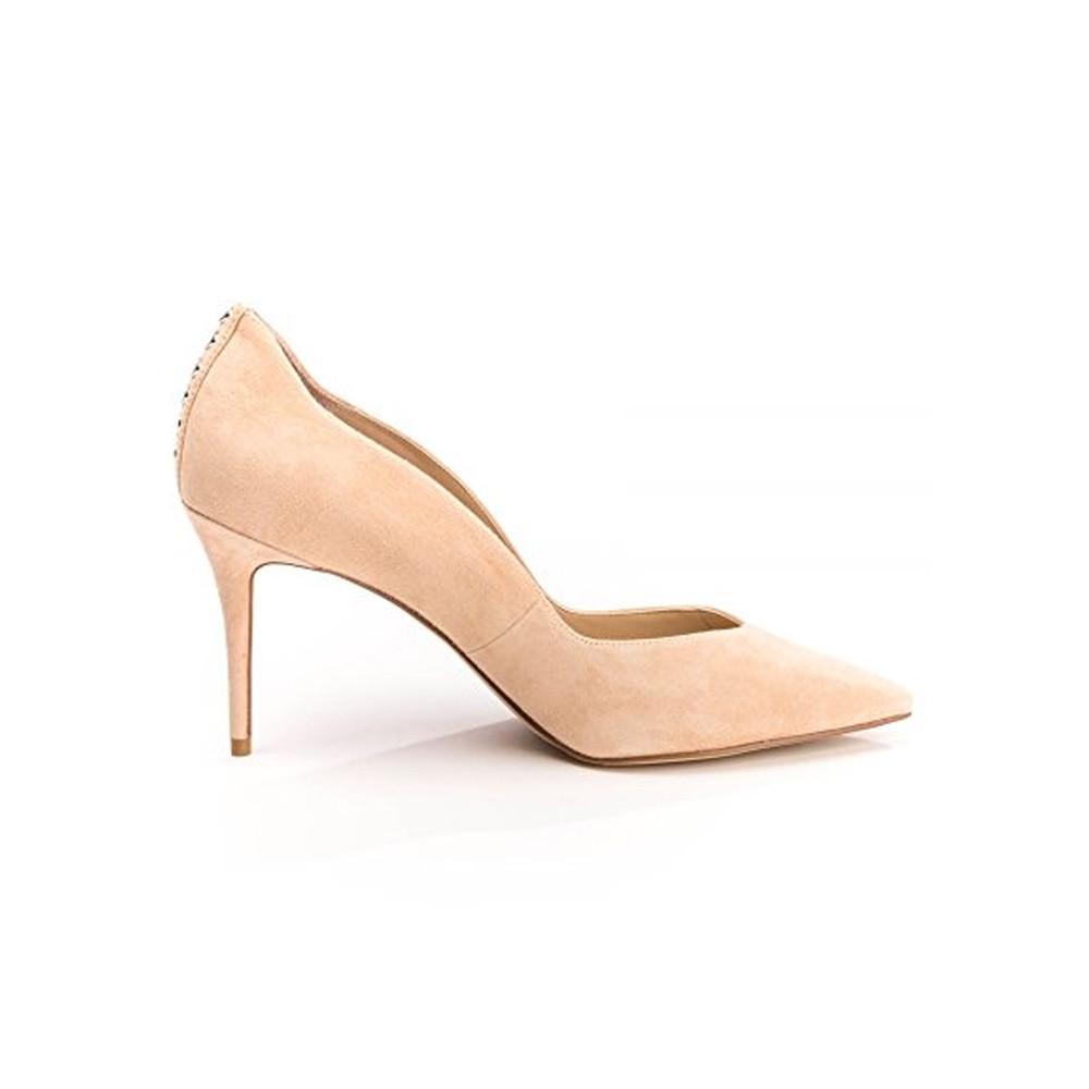 Brianna Suede Heels - Apricot Peach