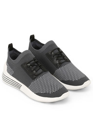 KENDALL & KYLIE Brandy Trainers - Black, White & Grey