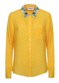 ESSENTIEL ANTWERP Proud Embellished Collar Shirt - Lemon Chrome